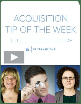 Acquisition Tip Videos