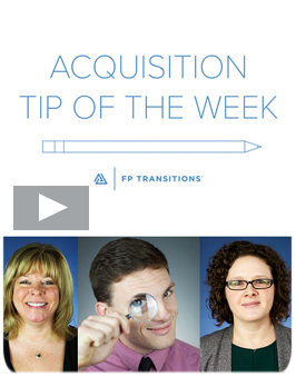 Acquisition Tip Videos