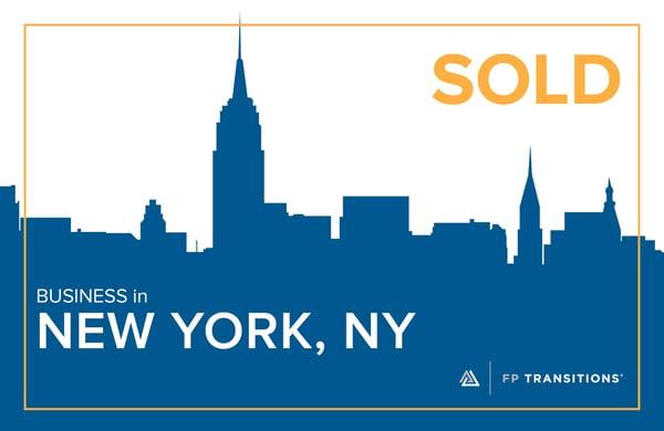SOLD: New York, NY